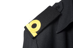 Isolated Navy epaulet rank sign in uniform Stock Photos