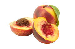 Isolated nectarine Stock Images