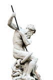 Isolated Neptune, Piazza Navona in Rome Italy Royalty Free Stock Photography