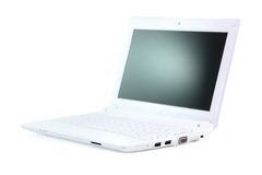 Isolated netbook Stock Photography