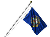 Isolated New Hampshire Flag Royalty Free Stock Image