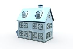 Isolated new house Royalty Free Stock Images