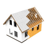 Isolated new house construction design zigzag transition Royalty Free Stock Photos