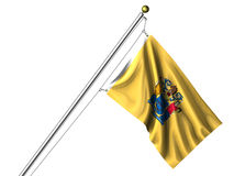 Isolated New Jersey Flag Royalty Free Stock Photo