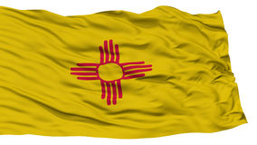 Isolated New Mexico Flag, USA state Stock Images
