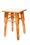 Isolated new wooden stool from pine  on white Stock Photo