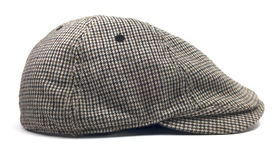 Isolated Newsboy Cap. Retro wool driver cap on a white background Royalty Free Stock Images
