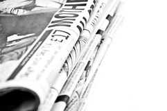 Isolated newspapers Royalty Free Stock Photos