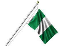 Isolated Nigerian Flag Stock Photography