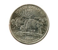 Isolated North Dakota quarter Stock Photo