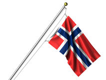 Isolated Norwegian Flag Stock Photos