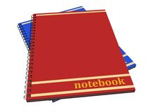 Isolated note book Stock Images