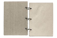 Isolated notebook with pages beige gray color Royalty Free Stock Photos