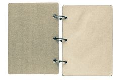 Isolated notebook with pages dirty beige color Royalty Free Stock Images