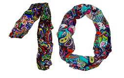 The isolated numbers from 1 to 10 made of fabric with floral print royalty free stock photo