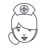 Isolated nurse woman cartoon design Stock Photo