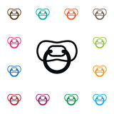 Isolated Nursery Icon. Nipple Vector Element Can Be Used For Pacifier, Nipple, Nursery Design Concept. Royalty Free Stock Images