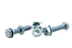 Isolated Nuts And Bolts Royalty Free Stock Photo