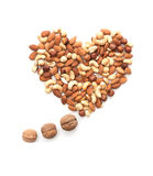 Isolated nuts heart cloud of thoughts shape Stock Photos