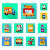 Isolated object of amusement and store icon. Collection of amusement and urban stock symbol for web. Vector design of amusement and store symbol. Set of vector illustration