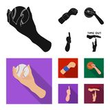 Isolated object of animated and thumb icon. Set of animated and gesture vector icon for stock. Vector design of animated and thumb symbol. Collection of vector illustration