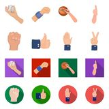Vector illustration of animated and thumb icon. Collection of animated and gesture stock vector illustration. Isolated object of animated and thumb symbol. Set royalty free illustration