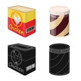 Isolated object of can and food symbol. Collection of can and package vector icon for stock. Vector design of can and food sign. Set of can and package stock stock illustration