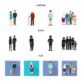 Vector illustration of character and avatar logo. Set of character and portrait vector icon for stock. Isolated object of character and avatar icon. Collection stock illustration