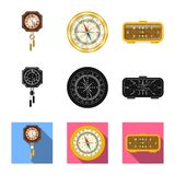 Isolated object of clock and time icon. Set of clock and circle stock vector illustration. Vector design of clock and time symbol. Collection of clock and stock illustration