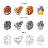 Isolated object of confectionery and culinary sign. Set of confectionery and product stock symbol for web. Vector design of confectionery and culinary logo vector illustration