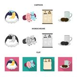 Isolated object of dreams and night icon. Collection of dreams and bedroom stock symbol for web. royalty free illustration