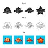 Vector illustration of emblem and badge logo. Set of emblem and sticker stock vector illustration. Isolated object of emblem and badge icon. Collection of vector illustration