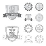 Isolated object of emblem and badge logo. Set of emblem and sticker stock symbol for web. Vector design of emblem and badge icon. Collection of emblem and stock illustration