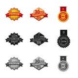 Isolated object of emblem and badge logo. Set of emblem and sticker stock vector illustration. stock illustration