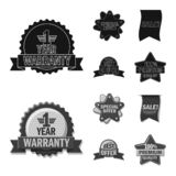 Vector illustration of emblem and badge symbol. Set of emblem and sticker stock vector illustration. Isolated object of emblem and badge sign. Collection of Royalty Free Illustration