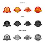 Isolated object of emblem and badge symbol. Collection of emblem and sticker stock vector illustration. Vector design of emblem and badge sign. Set of emblem royalty free illustration