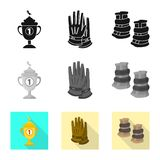 Vector illustration of equipment and riding icon. Set of equipment and competition stock vector illustration. Isolated object of equipment and riding symbol vector illustration
