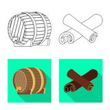 Isolated object of farm and vineyard icon. Set of farm and product stock vector illustration. Vector design of farm and vineyard symbol. Collection of farm and stock illustration