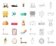 Isolated object of goods and cargo icon. Collection of goods and warehouse stock symbol for web. Vector design of goods and cargo symbol. Set of goods and stock illustration