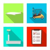 Isolated object of goods and cargo sign. Set of goods and warehouse stock vector illustration. Vector design of goods and cargo logo. Collection of goods and stock illustration