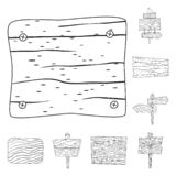 Isolated object of hardwood and material icon. Collection of hardwood and wood vector icon for stock. Vector design of hardwood and material symbol. Set of royalty free illustration