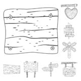 Isolated object of hardwood and material icon. Set of hardwood and wood vector icon for stock. Vector design of hardwood and material symbol. Collection of royalty free illustration