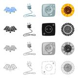Vector illustration of innovation and technology icon. Collection of innovation and nature stock vector illustration. Isolated object of innovation and royalty free illustration