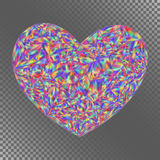 Isolated Object Iridescent Heart for Invitation, Congratulation, Stock Photography
