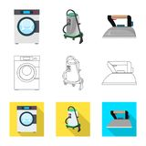 Isolated object of laundry and clean icon. Collection of laundry and clothes stock symbol for web. Vector design of laundry and clean symbol. Set of laundry and stock illustration