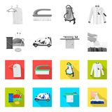 Isolated object of laundry and clean icon. Set of laundry and clothes stock symbol for web. Vector design of laundry and clean symbol. Collection of laundry and stock illustration