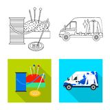 Isolated object of laundry and clean icon. Set of laundry and clothes vector icon for stock. Vector design of laundry and clean symbol. Collection of laundry royalty free illustration