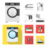 Isolated object of laundry and clean icon. Set of laundry and clothes vector icon for stock. Vector design of laundry and clean symbol. Collection of laundry stock illustration