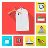 Isolated object of laundry and clean symbol. Set of laundry and clothes stock symbol for web. Vector design of laundry and clean sign. Collection of laundry and vector illustration