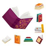 Isolated object of library and bookstore  sign. Set of library and literature  vector icon for stock. Vector design of library and bookstore  logo. Collection stock illustration